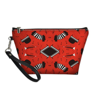 Red Accordian Cosmetic Bag