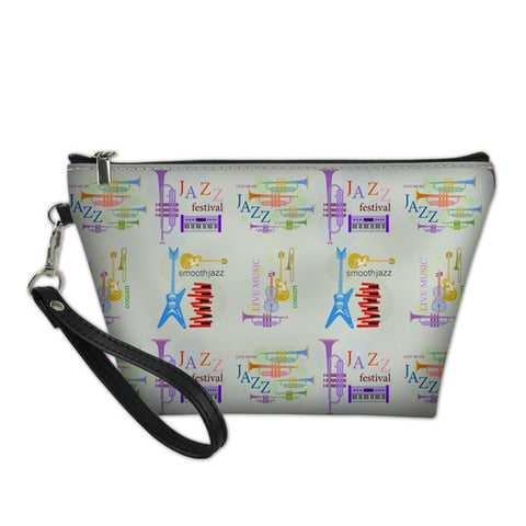Colourful Instrument Cosmetic Bag