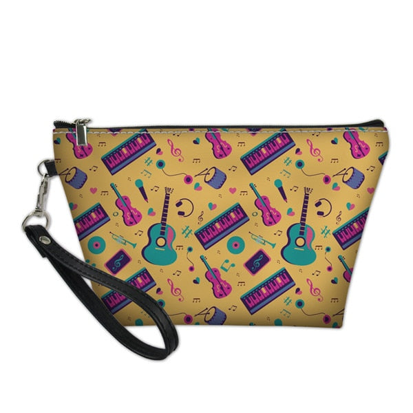 Musical Instrument Cosmetic Bag