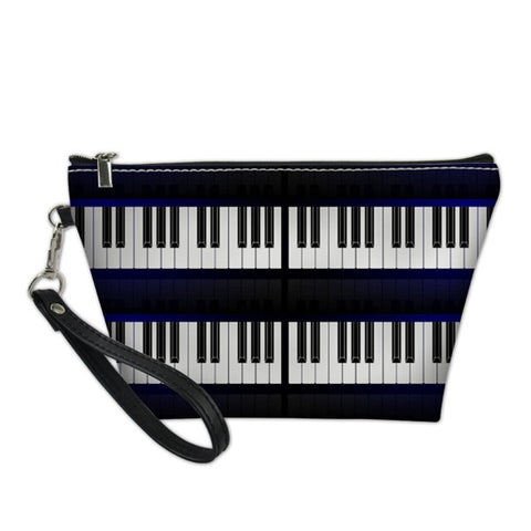 Double Piano Keys Cosmetic Bag