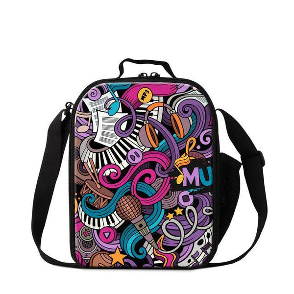 Comic Design Music Lunch Bag
