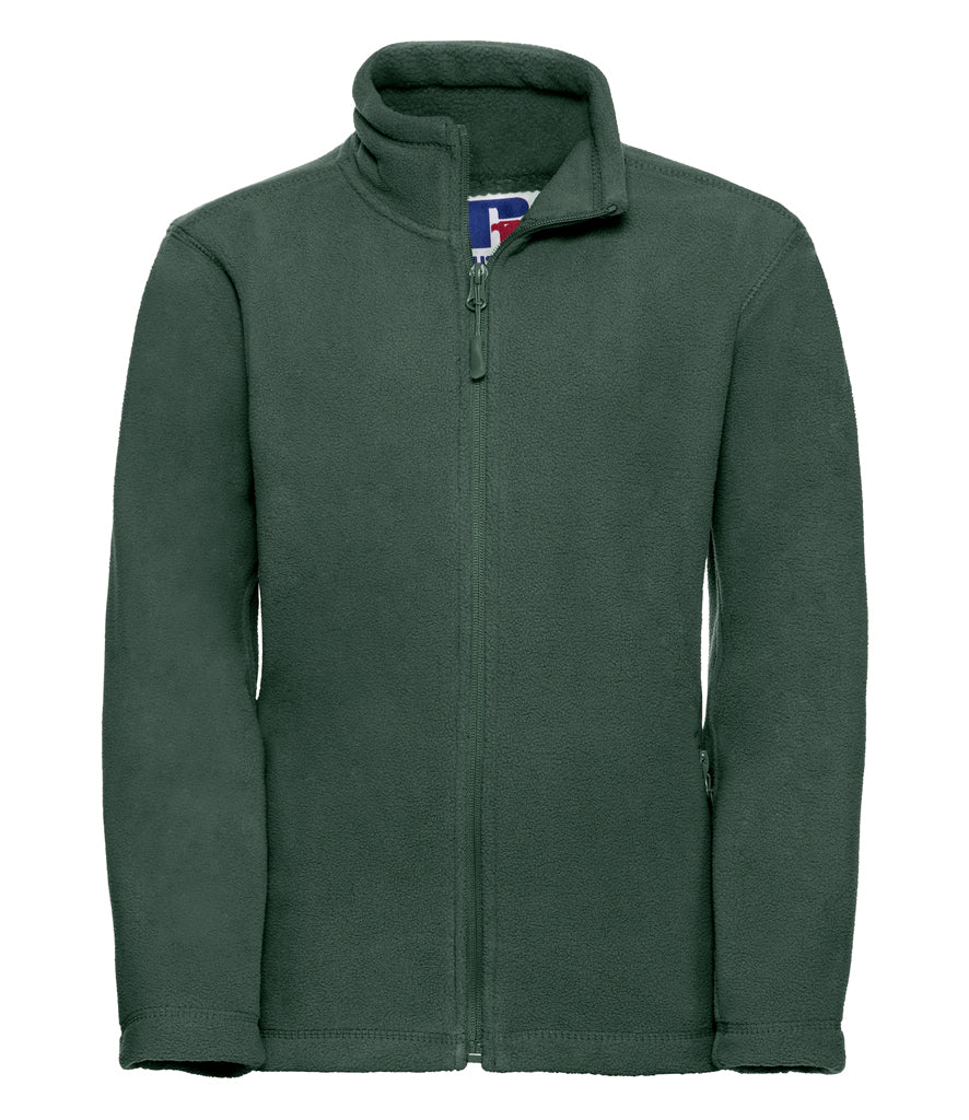 Bottle Green Russell Kids Outdoor Fleece Jacket