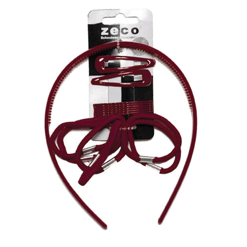 Burgundy Alice Hair Band Set