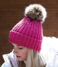 Load image into Gallery viewer, Beechfield Faux Fur Pop Pom Chunky Beanie