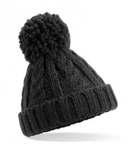 Load image into Gallery viewer, Beechfield Infant Cable Knit Melange Beanie
