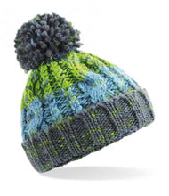 Load image into Gallery viewer, Beechfield Infant Corkscrew Pom Pom Beanie