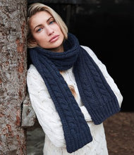 Load image into Gallery viewer, Beechfield Cable Knit Melange Scarf