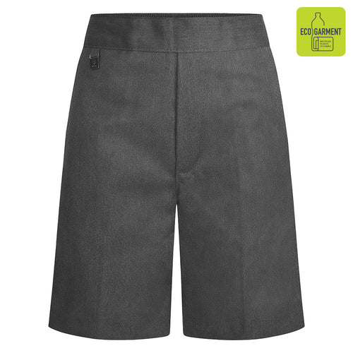 Boys Grey Elastic Back Pull-Up Shorts