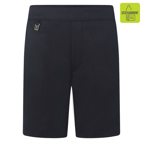 Boys Navy Elastic Back Pull-Up Shorts