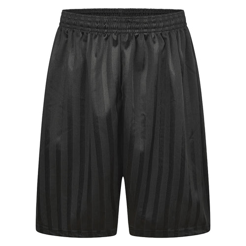 Black Shadow Stripe P.E. Shorts