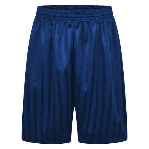 Royal Blue Shadow Stripe P.E. Shorts
