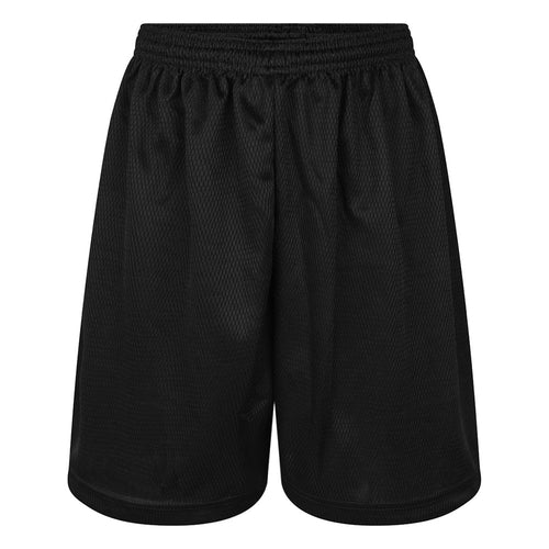 Black Mesh Honeycomb P.E. Shorts