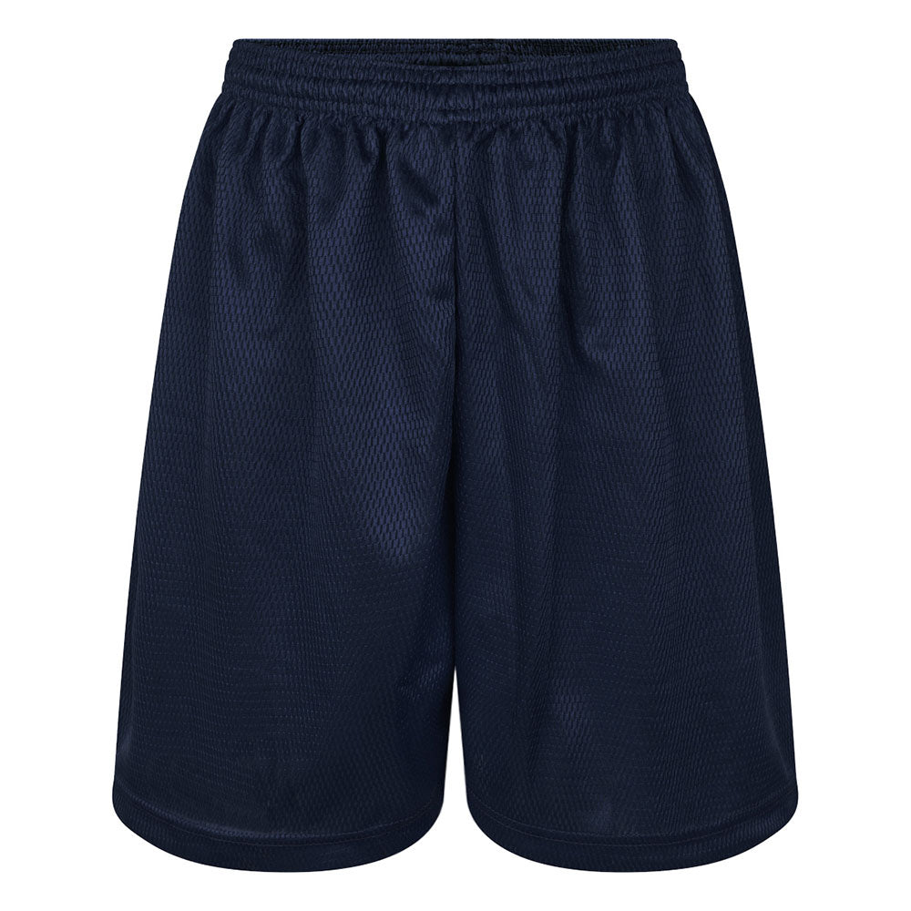 Navy Blue Mesh Honeycomb P.E. Shorts