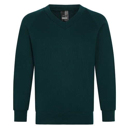 Bottle Green V-Neck Sweatshirt