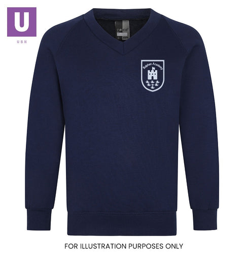 Bulphan Academy V-Neck Sweatshirt with logo