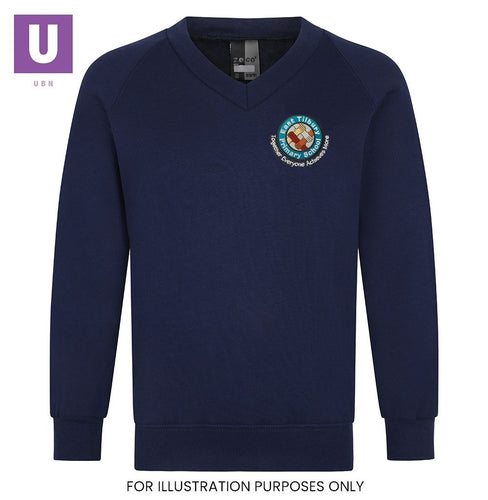 East Tilbury Primary V-Neck Sweatshirt with logo