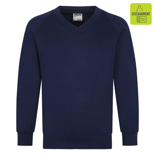 Navy Unisex V-Neck Sweatshirt
