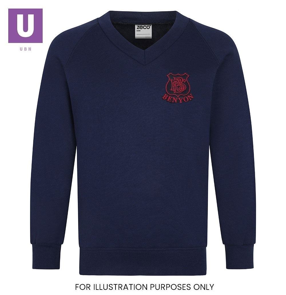 Benyon Primary V-Neck Sweatshirt with logo