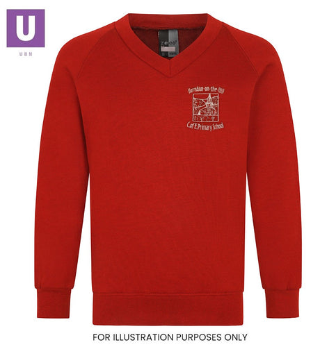 Horndon-on-the-Hill Primary V-Neck Sweatshirt with logo