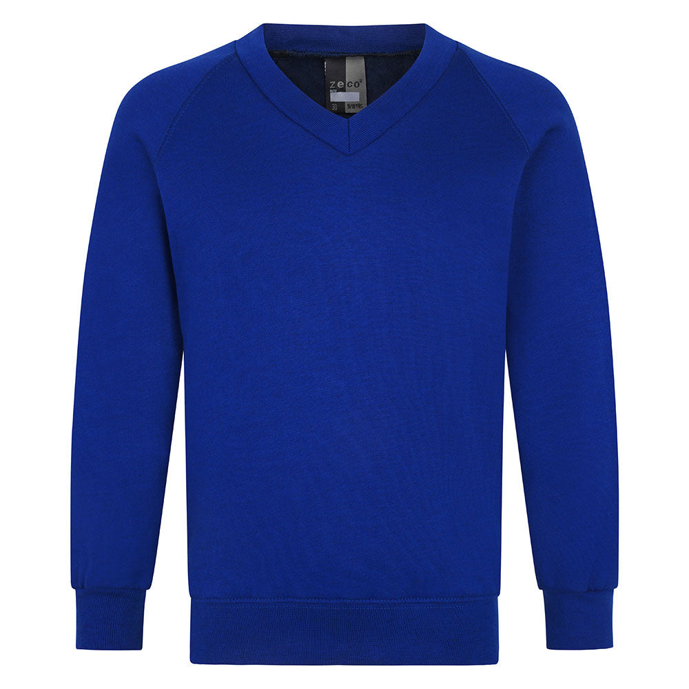 Royal Blue V-Neck Sweatshirt