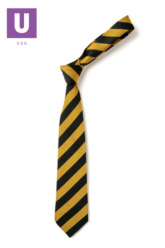 Black & Gold Broad Stripe Tie
