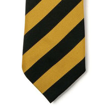 Load image into Gallery viewer, Black & Gold Broad Stripe Tie