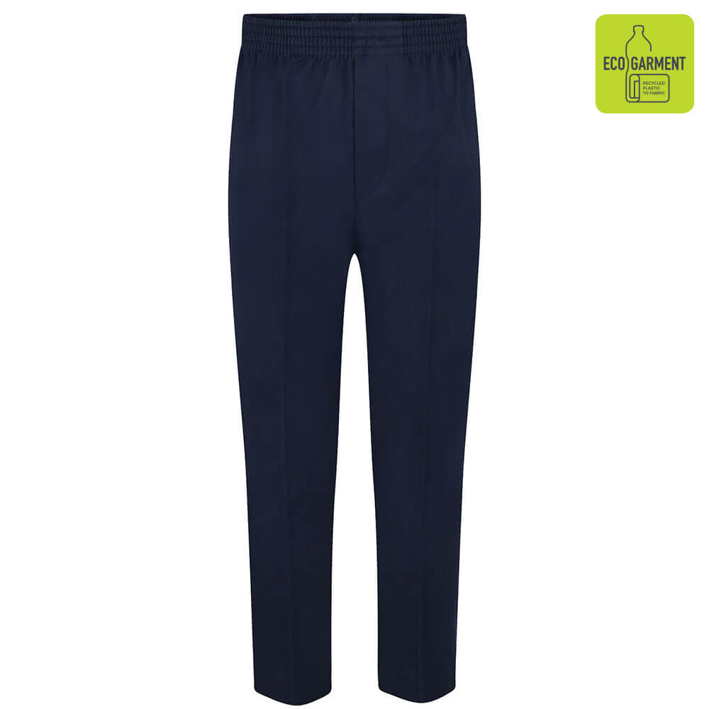 Boys Navy Full Elastic Pull-Up Trouser