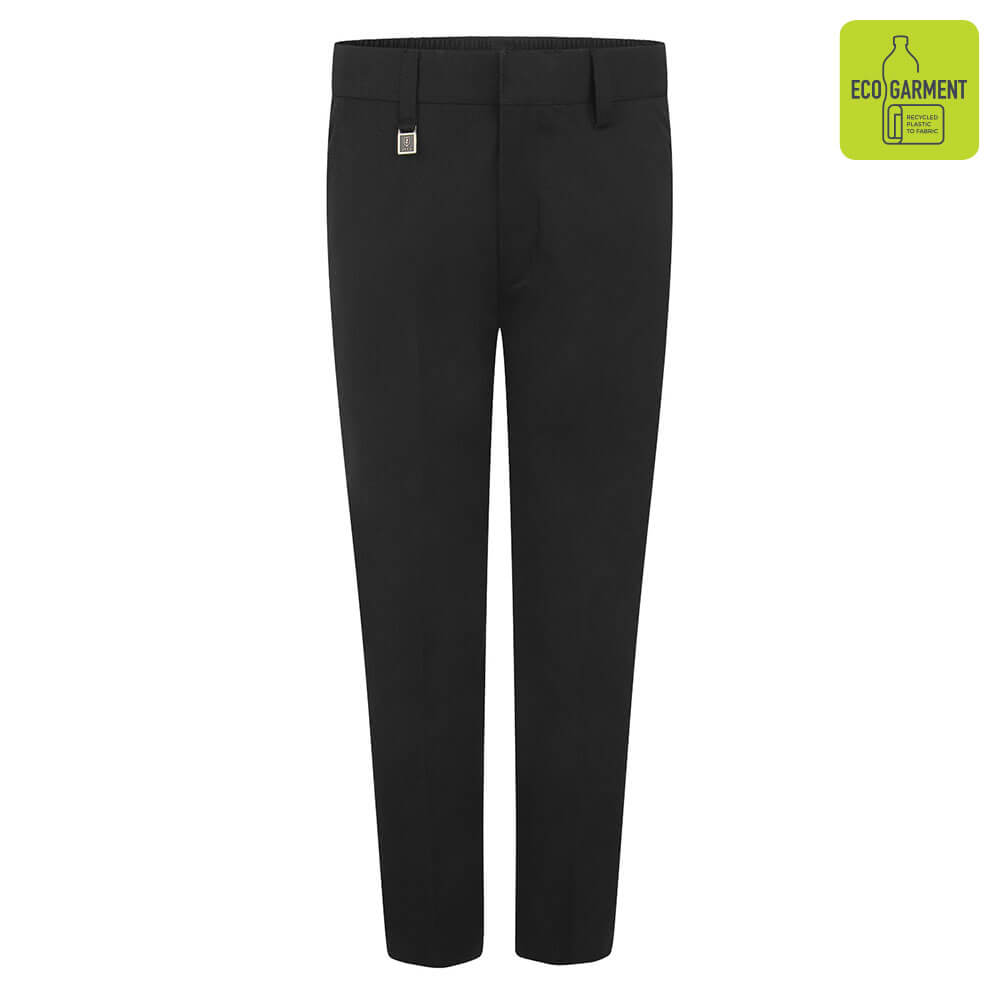 Boys Black Standard Fit Trouser