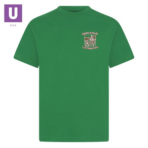 Horndon-on-the-Hill Primary Emerald P.E. T-Shirt with logo