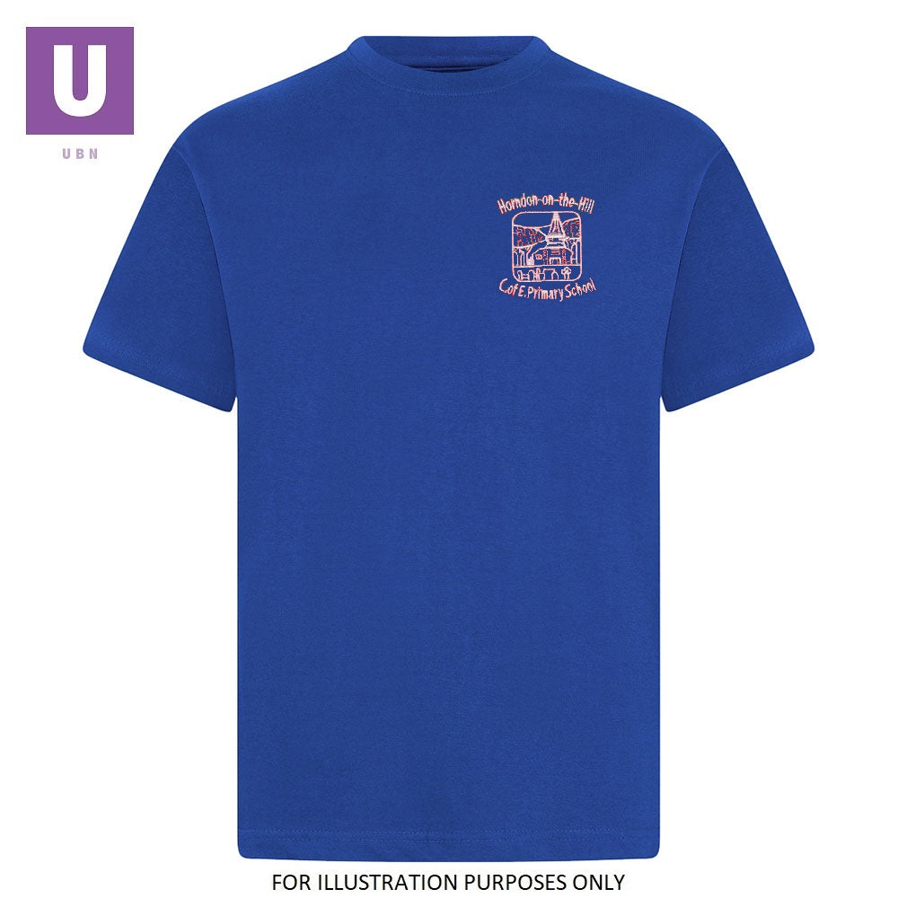 Horndon-on-the-Hill Primary Royal P.E. T-Shirt with logo