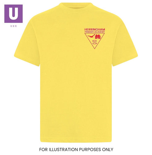 Herringham Primary Yellow P.E. Crew Neck T-Shirt