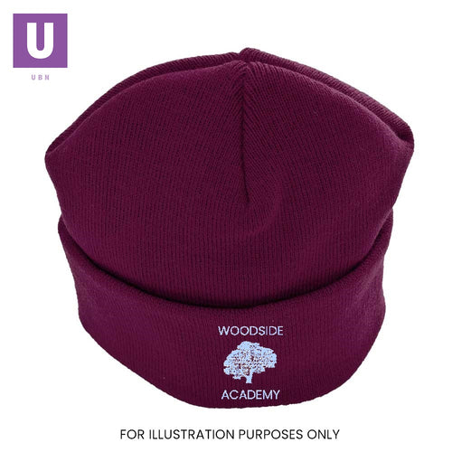 Woodside Academy Children's Knitted Ski Hat with logo
