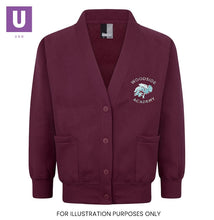 Load image into Gallery viewer, Woodside Academy Sweatshirt Cardigan with logo