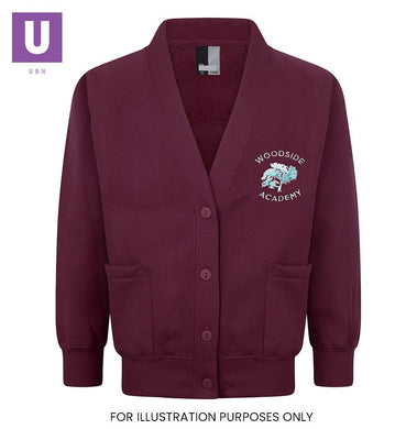 Woodside Academy Sweatshirt Cardigan with logo
