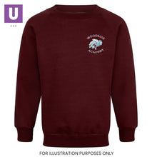 Load image into Gallery viewer, Woodside Academy Crew Neck Sweatshirt with logo