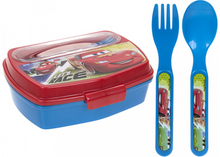 Load image into Gallery viewer, Children's Fun Character Lunchbox With Cutlery
