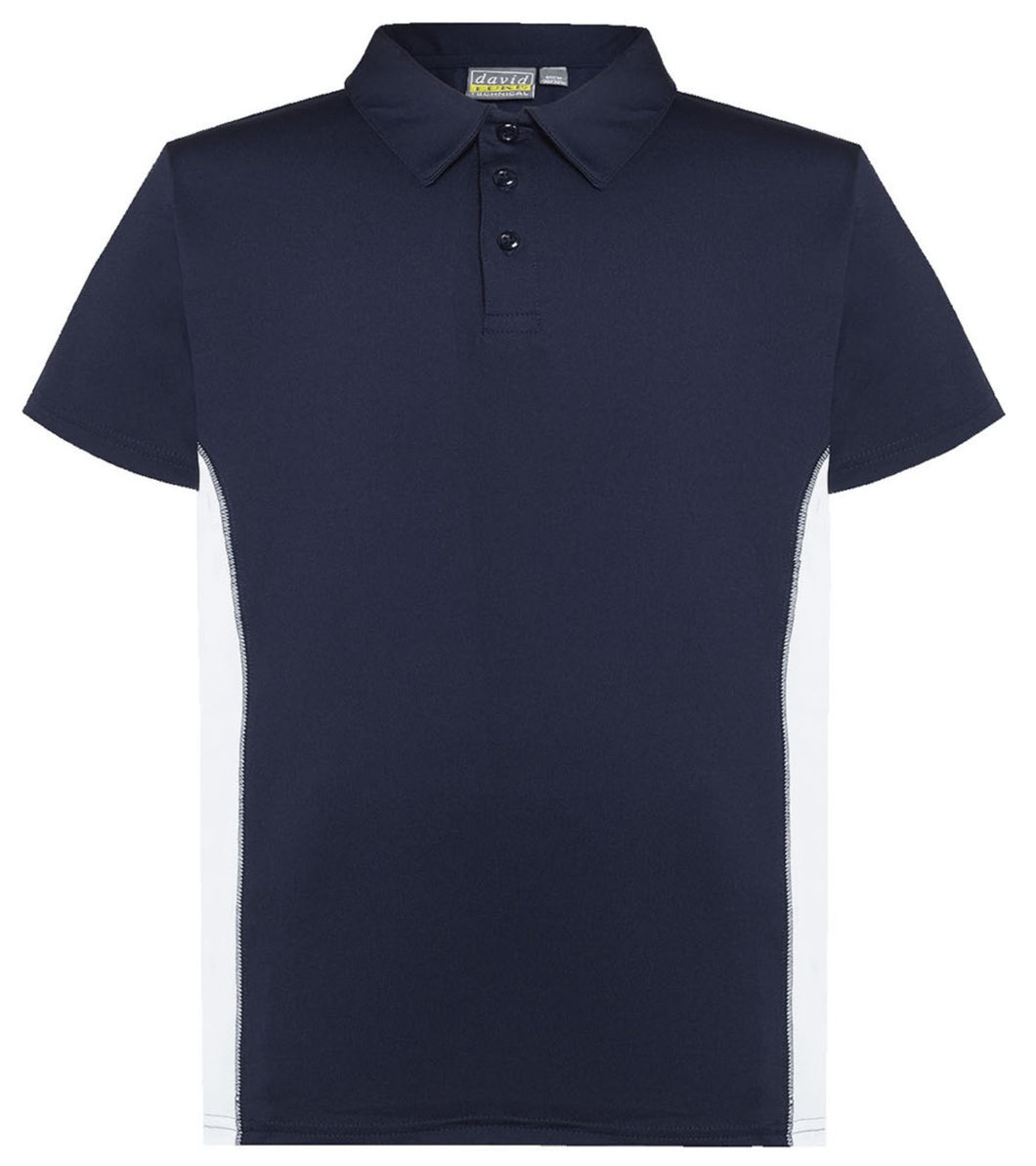Navy/White Contrast Polo Shirt