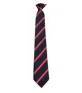 Navy with Red & White Stripe Tie