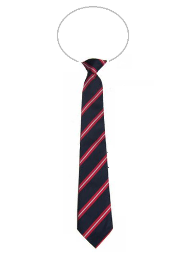 Navy with Red & White Stripe Elastic Tie