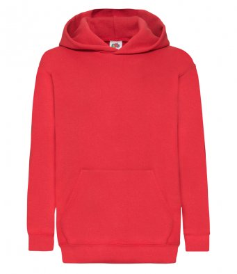 Red Classic Hooded Sweatshirt
