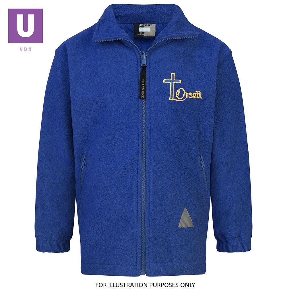 Orsett Primary Polar Fleece Jacket with logo