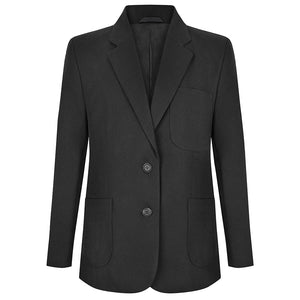 Girls Black Fitted Eco School Blazer