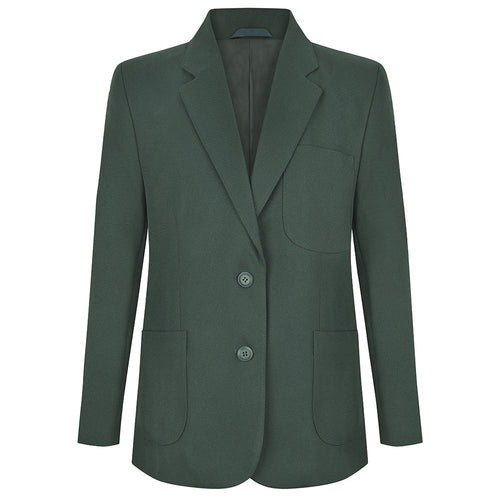 Girls Bottle Green Fitted Eco School Blazer