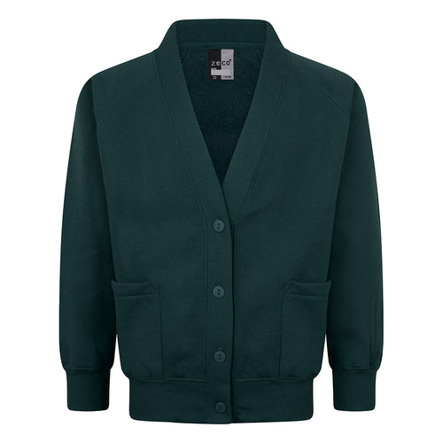 Bottle Green Sweatshirt Cardigan