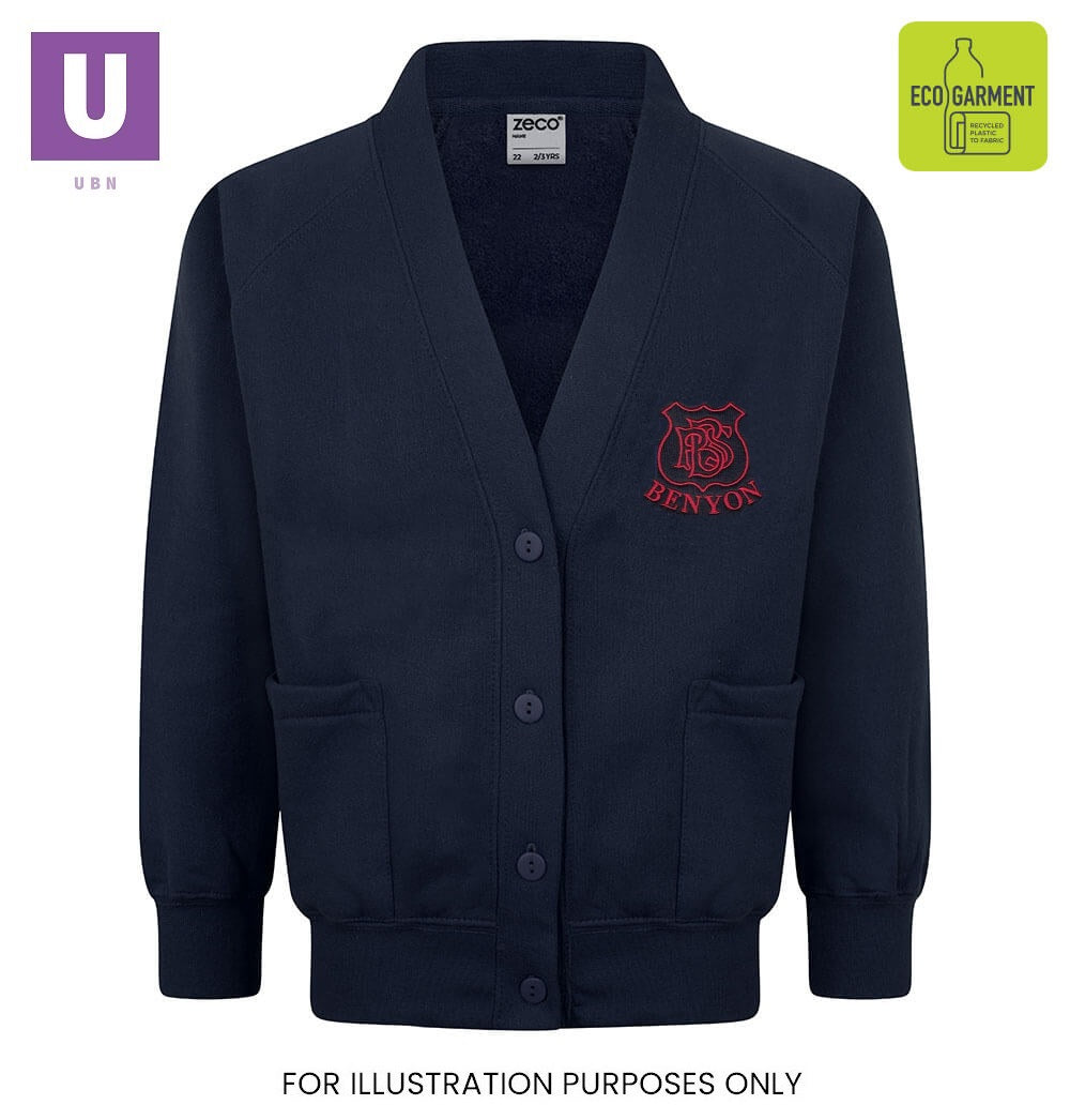 Benyon Primary Sweatshirt Cardigan with logo