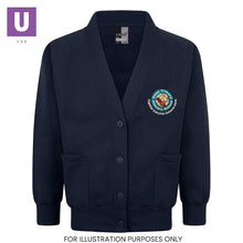 Load image into Gallery viewer, East Tilbury Primary Sweatshirt Cardigan with logo