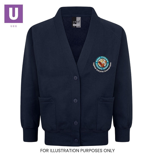 East Tilbury Primary Sweatshirt Cardigan with logo