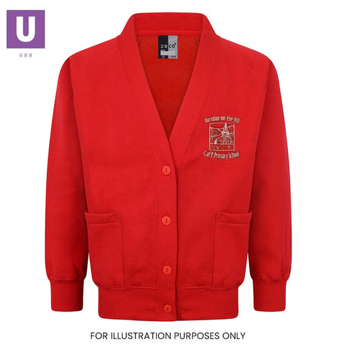 Horndon-on-the-Hill Primary Sweatshirt Cardigan with logo