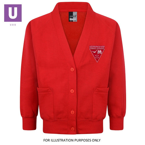 Herringham Primary Sweatshirt Cardigan with logo