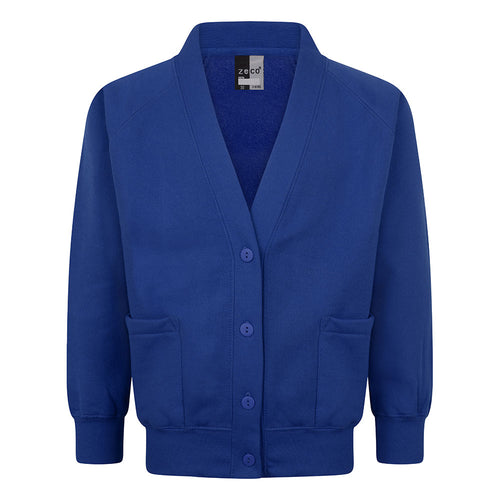 Royal Blue Sweatshirt Cardigan